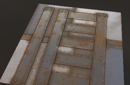 Texture material test. Should look like rusty metal http://t.co/jRxg0ofph5